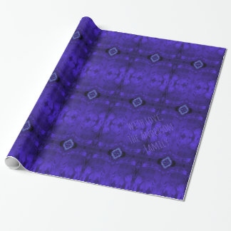 Abstract Art Purple Geometric Pattern Diamonds Wrapping Paper