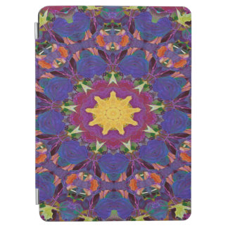 Abstract Art Purple Radiating Pattern iPad Air Cover