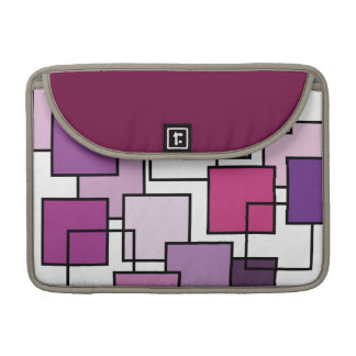 Abstract Art Purple Square Sleeve For MacBook Pro