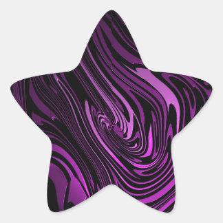 Abstract Art Purple Swirls Star Sticker