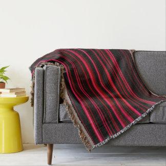 Abstract Art Purple Tubes Throw Blanket