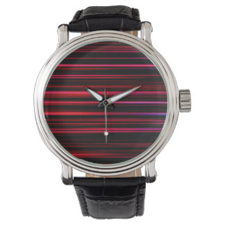 Abstract Art Purple Tubes Watch