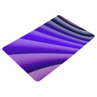 Abstract Art Purple Wave Floor Mat