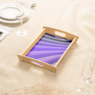 Abstract Art Purple Wave Serving Tray