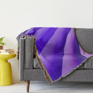 Abstract Art Purple Wave Throw Blanket