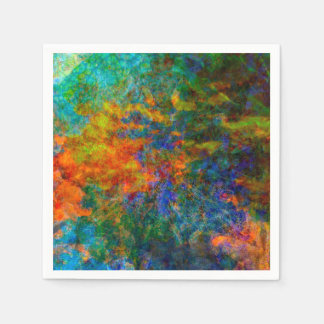Abstract Art Rainbow Colors Disposable Serviettes