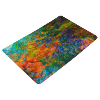 Abstract Art Rainbow Colors Floor Mat