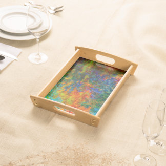 Abstract Art Rainbow Colors Serving Tray