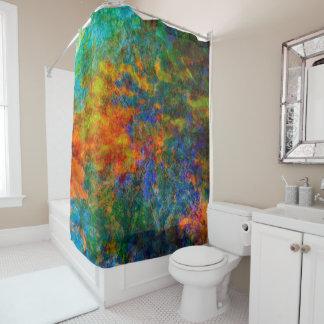 Abstract Art Rainbow Colors Shower Curtain