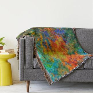 Abstract Art Rainbow Colors Throw Blanket
