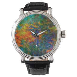 Abstract Art Rainbow Colors Watch