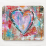 Abstract Art Reckless Heart Original Painting Mouse Pad