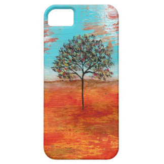 Abstract Art Red Landscape Tree Original Painting iPhone 5 Covers