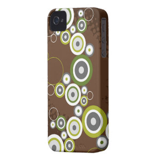 Abstract Art Retro Circles Rings iPhone 4 CaseMate iPhone 4 Case-Mate Case