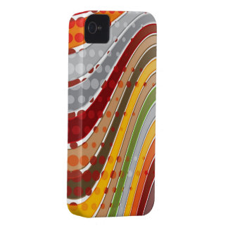 Abstract Art Retro Wavy Stripes iPhone 4 CaseMate iPhone 4 Covers