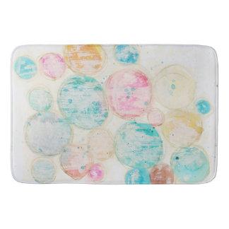 Abstract Art Shabby Grungy Circle Pink Blue Orange Bath Mat
