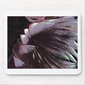 Abstract art solar feathers black violet unusual mouse pads