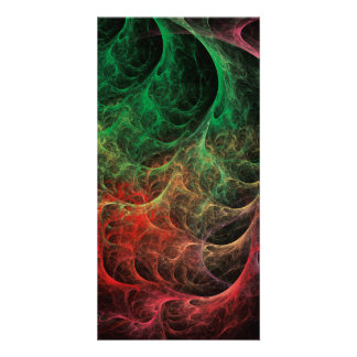 Abstract Art Space Fire Photo Card Template