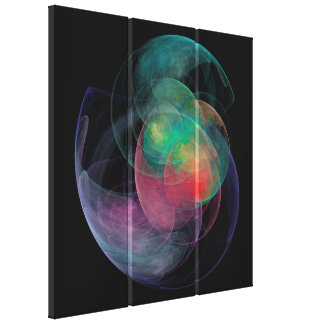 Abstract Art Space Shell Canvas Print
