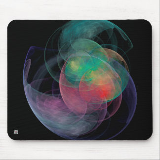Abstract Art Space Shell Mouse Pads
