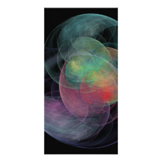 Abstract Art Space Shell Picture Card