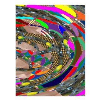 Abstract ART: STADIUM Arena Exhibition Grounds FUN Postcard