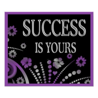 Abstract Art Success Quote Poster
