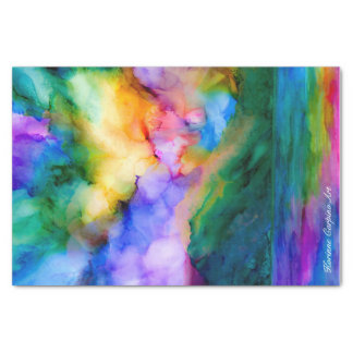 Abstract Art Sunrise Tissue Paper