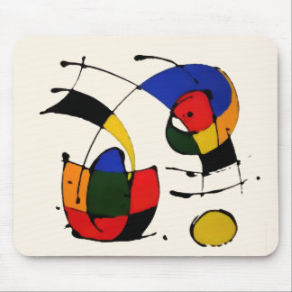 Abstract Art Surrealism in the style of Joan Miro Mouse Mat