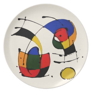 Abstract Art Surrealism in the style of Joan Miro Plates