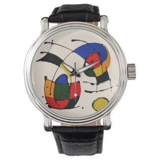 Abstract Art Surrealism in the style of Joan Miro Watch