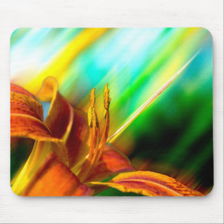 Abstract Art: Tiger Lily Mousepad