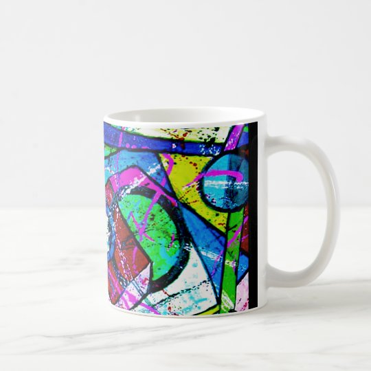 Abstract Art-Title:Juggler-Green Tint Coffee Mug