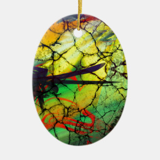 Abstract Art - Web of Lies Ceramic Oval Decoration