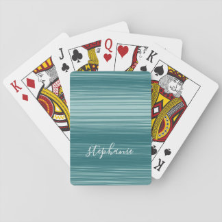 Abstract Art with Modern Script Name Playing Cards