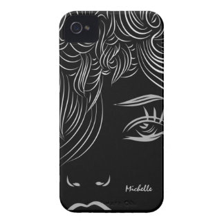 Abstract Art Woman Face Look Blackberry Bold Case