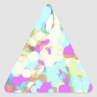 Abstract Artist Design Triangle Stickers