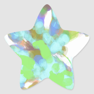 Abstract Artist Design Star Stickers