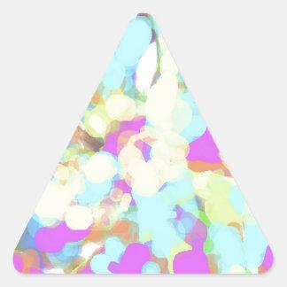 Abstract Artist Design Triangle Sticker