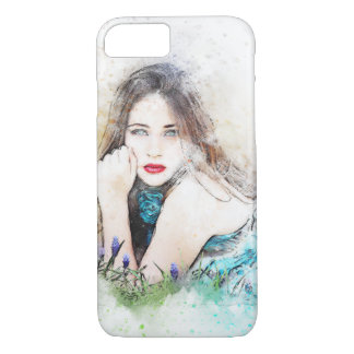 Abstract Artistic Sensual Woman iPhone 8/7 Case