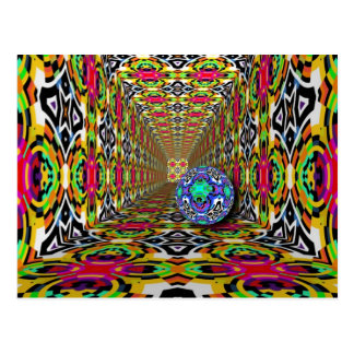 Abstract ARTs - Kaleidoscope pattern 10 Postcard