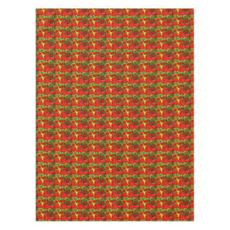 Abstract Artsy Red Tulips Tablecloth
