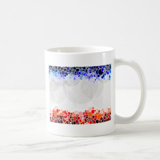 Abstract Artwork with Blue and Red Circles Basic White Mug
