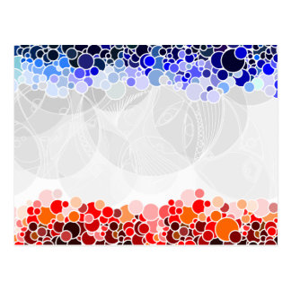 Abstract Artwork with Blue and Red Circles Postcard