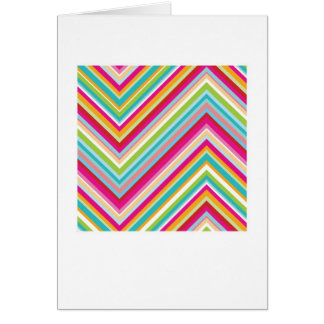 Abstract Arty Greetings Card - Colourful Zig Zags