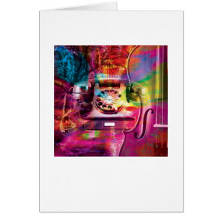 Abstract Arty Greetings Card - Telephone Retro