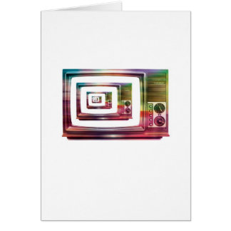 Abstract Arty Greetings Card - TV within a TV