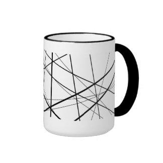 Abstract Asterisks (Black & White) Mug