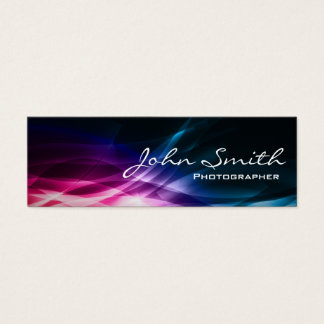 Abstract Aurora Photographer Mini Business Card