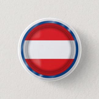 Abstract Austria Flag, Austrian Colors Button